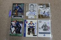 6 SIGNED JOHNNY BOWER MAPLE LEAFS HOCKEY CARDS