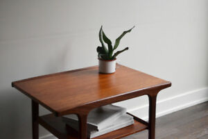 #94 - Mid Century Teak Side Table by R. Huber Co.