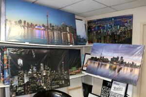 Various Toronto Skyline / CN Tower canvasart prints available