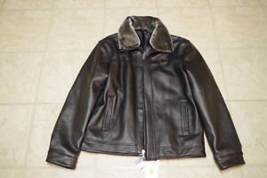 Faux leather and faux suede jackets
