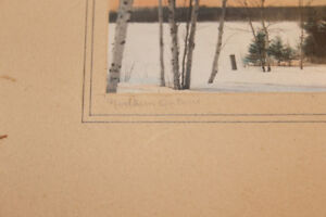 Pair of Hand Coloured Photographs of Northern Ontario - Signed London Ontario image 5