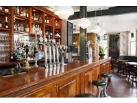 Immediate start Bartenders and Waiters in Clapham
