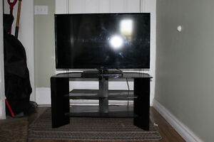 "40"" LCD TV with Solid Glass Stand"
