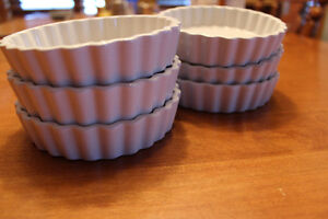 (6) Small Fluted 5-oz Crème Brulee / Quiche Dishes, NEW!
