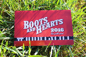 2 G.A. BOOTS & HEARTS TICKETS FOR SALE! GREAT DEAL!!