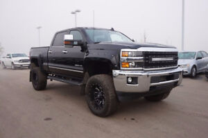 2015 SILVERADO  3500HD  LTZ  LIFTED..LOADED...BLACK/BLACK