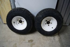 Trailer wheels and tires