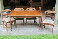 Dining Room Table and 4 Side Chairs