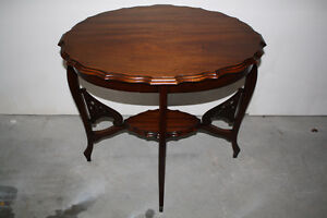 Vintage Solid Walnut Entry Table