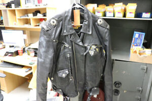 *VINTAGE* Lg Harley Davidson Leather Motorcycle Jacket (#16758)