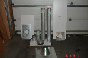 4 inch B vent pipe and flashing