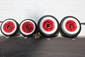 Hot Rod wire wheels & white wall tires