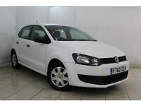 2013 62 VOLKSWAGEN POLO 1.2 S A/C 5DR 60 BHP