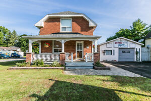 JUST LISTED! /// ALL BRICK CENTURY HOME with HEATED WORKSHOP