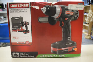 "Craftsman 19.2 Volt Lith-Ion 1/2"" Drill/Driver Kit - Brand New"