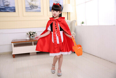 Little Red Riding Hood Costume 5 Piece Girls Fancy Dress Kids Book Week Size 5-8 - Little Red Riding Hood Costume Child