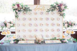 Donut Board Display for Weddings and Events