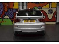 "2014 BMW X3 XDRIVE20D M SPORT ESTATE 2.0 AUTO SILVER BUSINESS NAV 19"" ALLOYS"