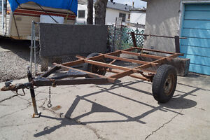 TRAILER FRAME with Axle & Wheels