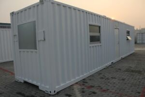 40' HQ ~ Container Office Unit, Modular, Office Trailer