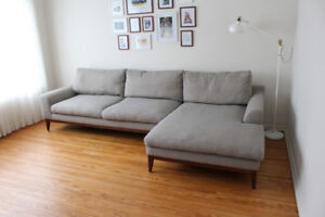 Holland Sectional Sofa -Right-hand facing Chaise(Grey)