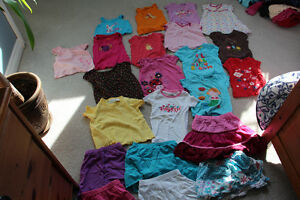 Lot of Size 3 Girls summer clothing 16 tops / t-shirts, 6 skirts