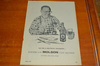 ANONCE 1960 BIERE MOLSON  - FRENCH BEER AD