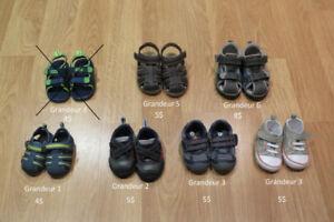 Chaussures (espadrilles, sandales, ...) pour garçon gr. 1 à 6