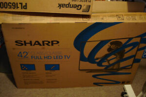 "Used SHARP Full HD LED 42"" color TV for sale"