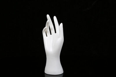 New 1 Pc Female Mannequin Hand Arm Display Base Gloves Jewelry Model Stand White