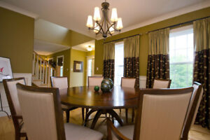 Dining Chairs - wood and upholstered