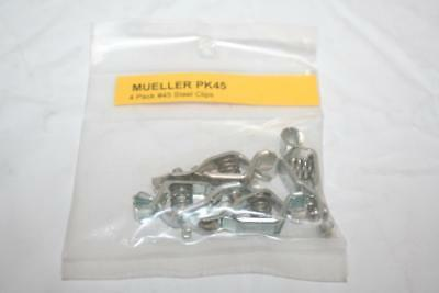 Mueller Lot Of 4 45 Alligator Pee-wee Testing Clip Steel 5-amp Made In Usa