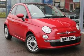 2013 FIAT 500 1.2 Lounge GBP30 TAX, B TOOTH, PAN ROOF, ALLOYS and AIR CON