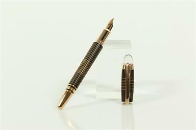 Montblanc Starwalker Red Gold Metal Fountain Pen No. 106867 NEW + BOX