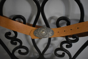 Vintage Brown Italian Leather Belt