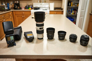 Canon  Lenses and flash system