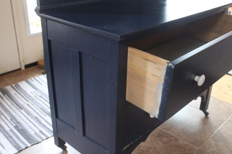 Vintage Dresser With Swivel Mirror Dark Blue Dressers