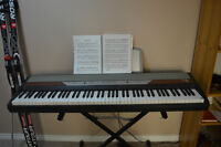 Korg SP 250 w/stand, bench, pedal, and gig bag
