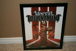 Gaming art / advertising - Unreal Tournament III framed poster