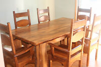 beautiful maple living edge dining table