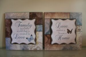 """Set of Pictures """"Family - Love - Home"""""""