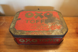 Old Large OXO Toffee Tin - Rare London Ontario image 1