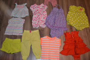 Baby girls 12-18 months summer clothes Carters