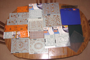 Fiscars Embosser, Stencils, Stamps, New Scrapbooking Books