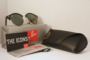 Ray Ban Clubround - Black and Gold