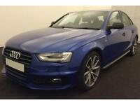 2015 BLUE AUDI A4 2.0 TDI 190 BLACK EDITION 4DR SALOON CAR FINANCE FR £58 PW