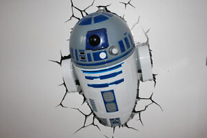 Kids R2D2 and Death Star Wall Lights