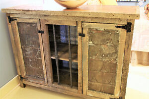 RUSTIC BUFFET CABINET, SERVER, HANDCRAFTED FROM RECLAIMED WOOD