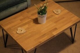 Solid oak butcher block table Top (No Legs included)