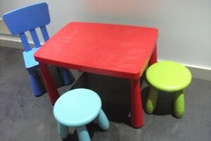 Ikea Mammut Children's Table and Chair